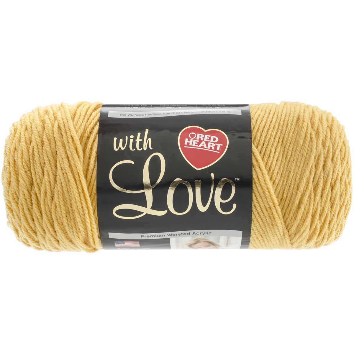 Red Heart with Love Yarn, 370 Yd.
