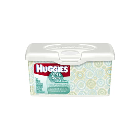 HUGGIES One and Done Refreshing Baby Wipes. [ Sold by the Each, Quantity per Each : 1 EA, Category : Wet Wipes, Product Class : Wet Wipes ]