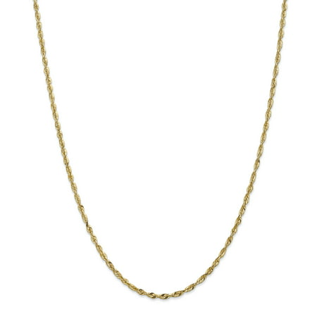 14K Yellow Gold 2.5mm Diamond Cut Extra-Light Rope Chain 20 Inch - image 5 de 5