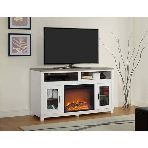 "Ameriwood Home Carver Fireplace TV Stand up to 60"", Multiple Colors"