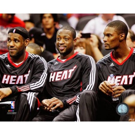 - LeBron James Dwayne Wade & Chris Bosh 2010-11 Photo Print