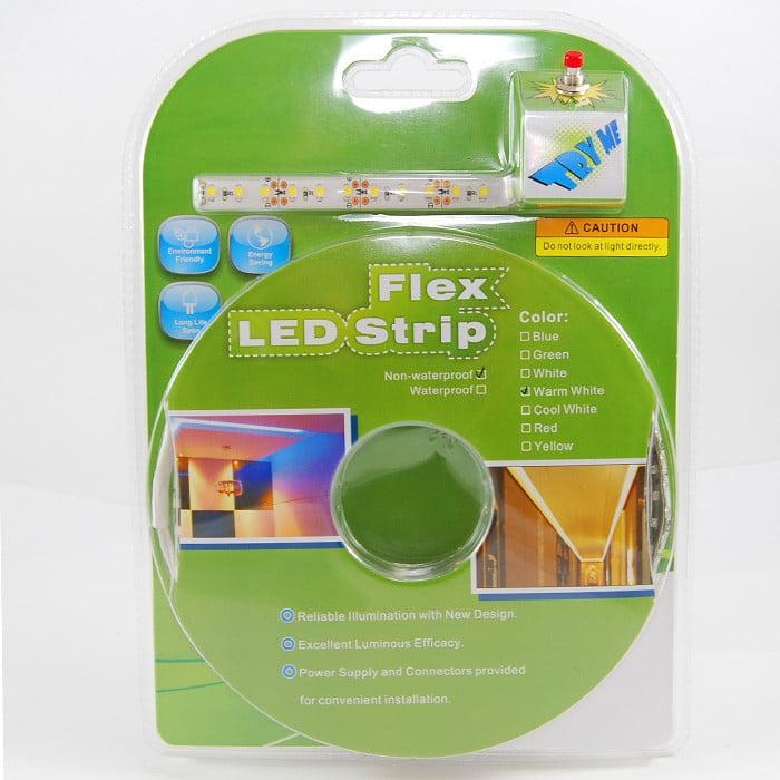 BulbAmerica 3 Meter Warm White 360 LED 3528SMD LED Strip Pug & Play Kit