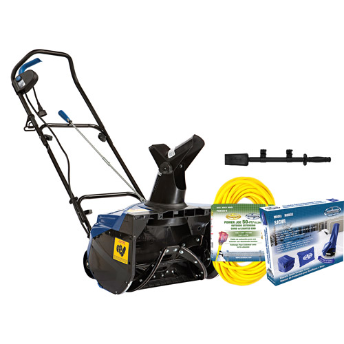 """Snow Joe 18"""" 13.5 AMP Electric Snow Blower Bundle (Includes SJ620, Cover, 50' Ft Extension Cord, & Chute Clean-out Tool)"""