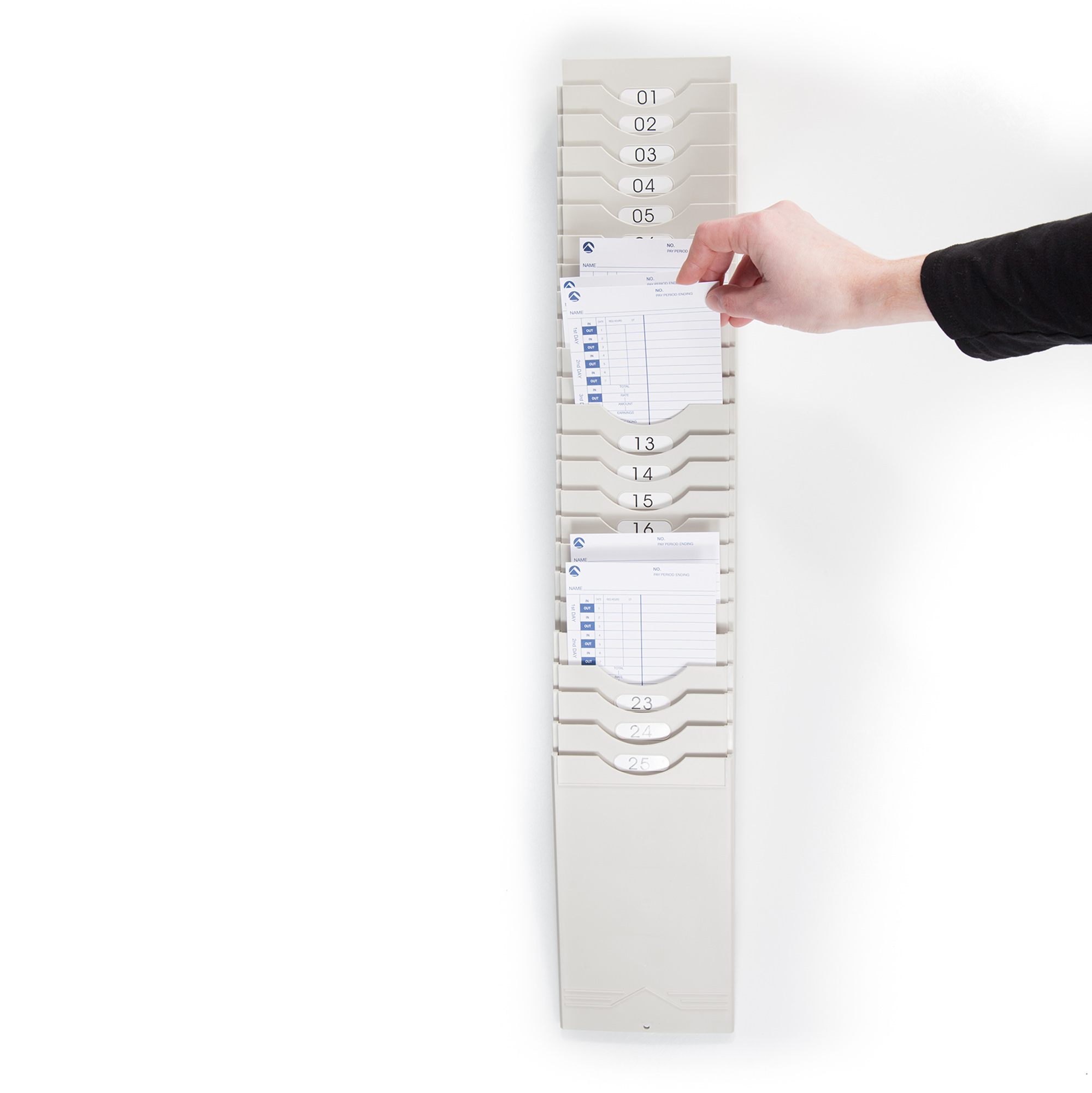 Expanding Time Card Rack by Pyramid Time Systems