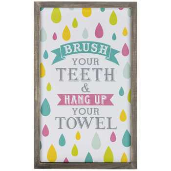 Brush Your Teeth Wood Wall Decoration For Bathroom Home Space