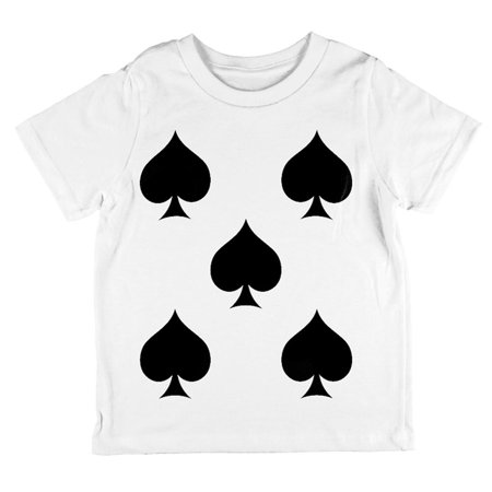 Halloween Five of Spades Card Soldier Costume All Over Toddler T Shirt