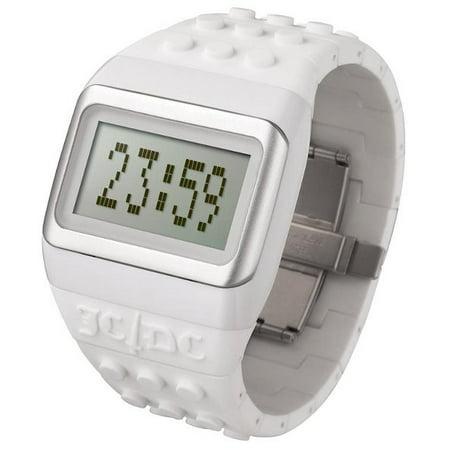 Unisex JD/DC Pop Hours Digital Plastic Watch - White Rubber Strap - Digital Dial - JC01-14