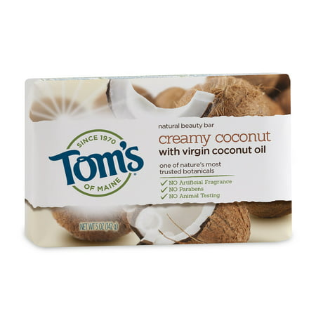 (3 pack) Tom's of Maine Beauty Bar Soaps, Coconut, 5 Oz ()