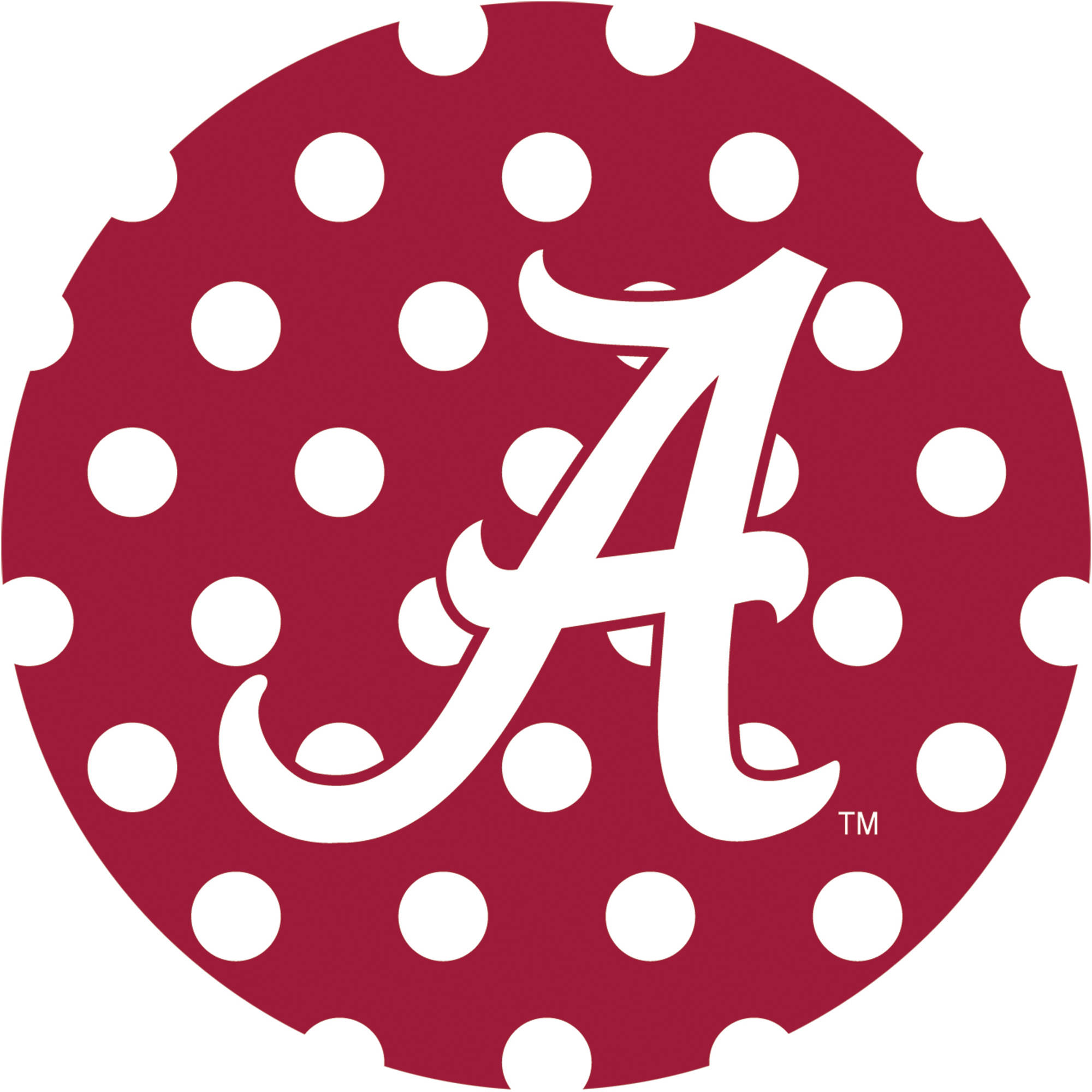 Stoneware Drink Coasters, University of Alabama Dots
