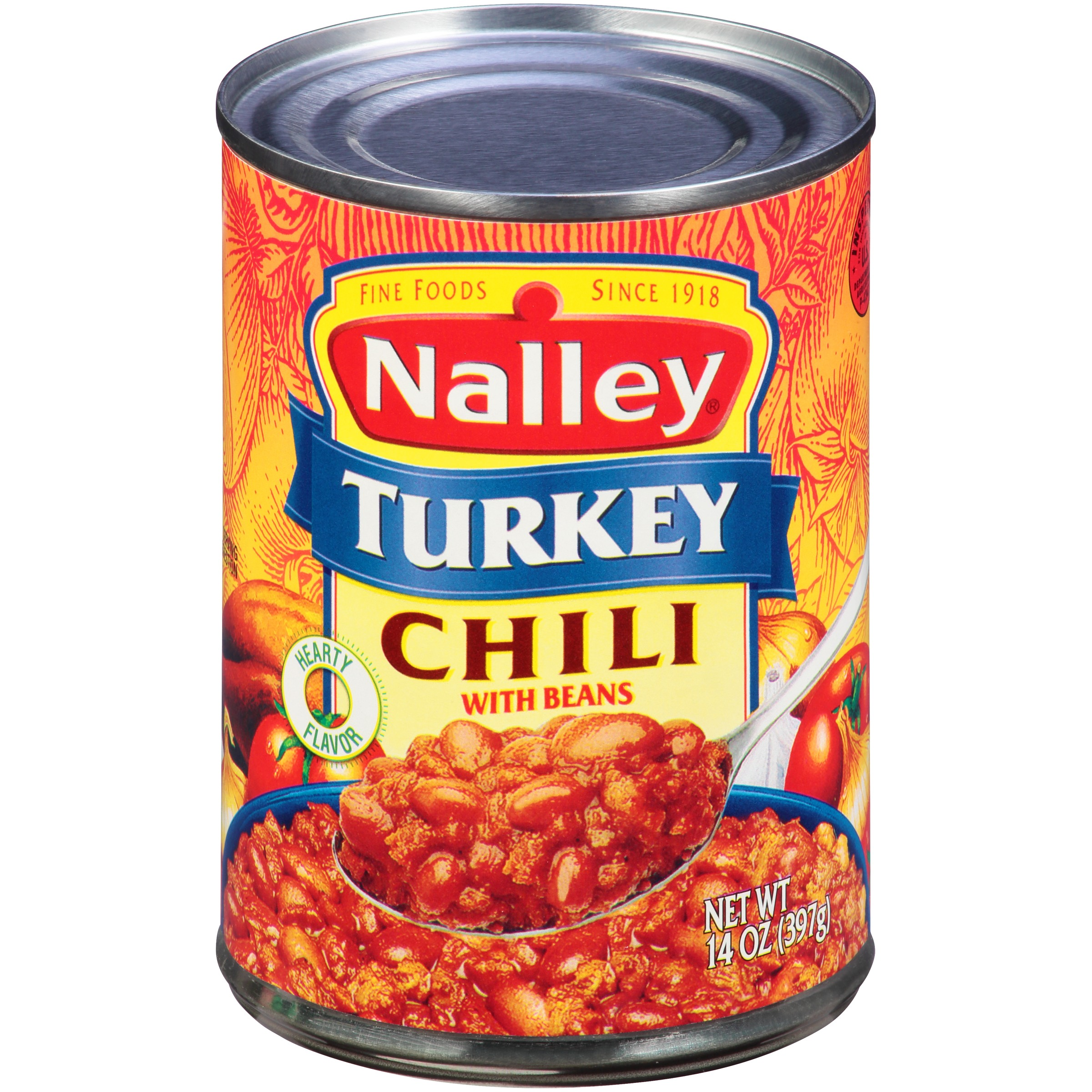 (6 Pack) Nalley Turkey Chili Con Carne With Beans, 15 Oz