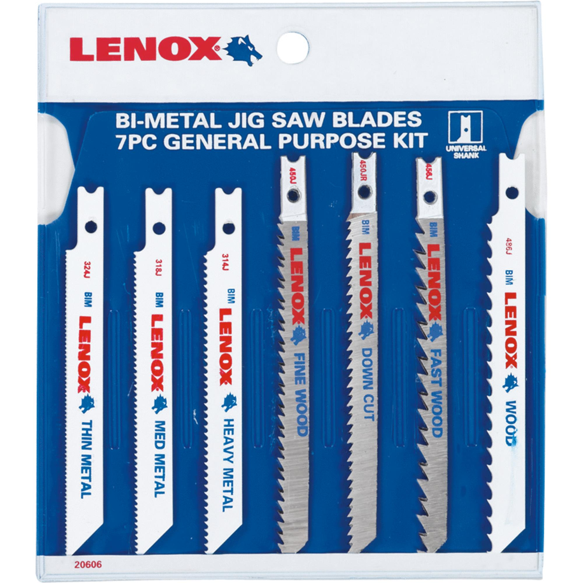 Lenox 7-Piece Saber and Jig Saw Blade Assortment