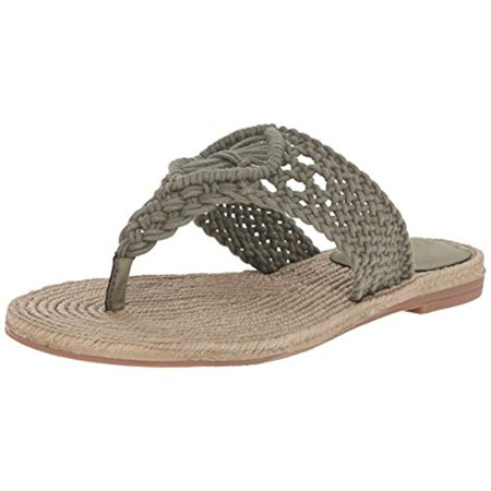 Mia Womens Nefeli Crochet Thong Flip-Flops Green 6 Medium (B,M)