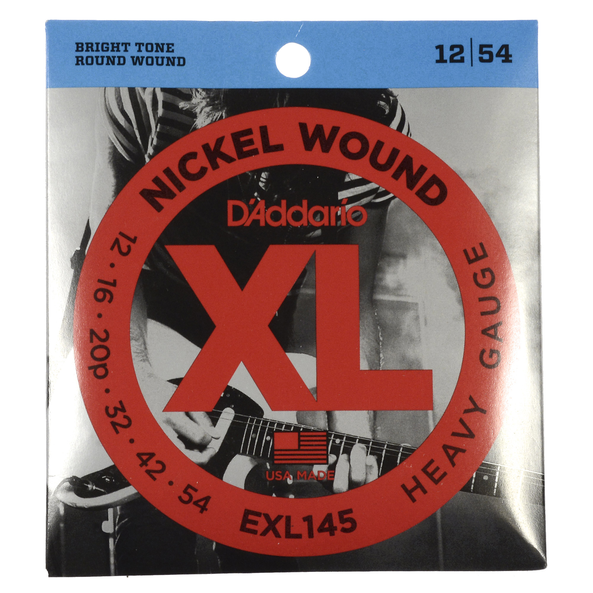 D'Addario EXL145 Electric Heavy 12-54