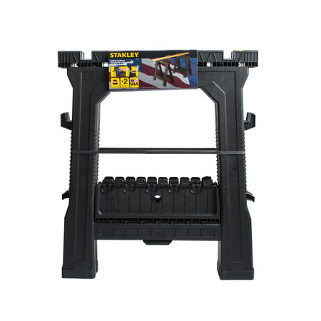 STANLEY® 060864R Plastic Folding Sawhorse