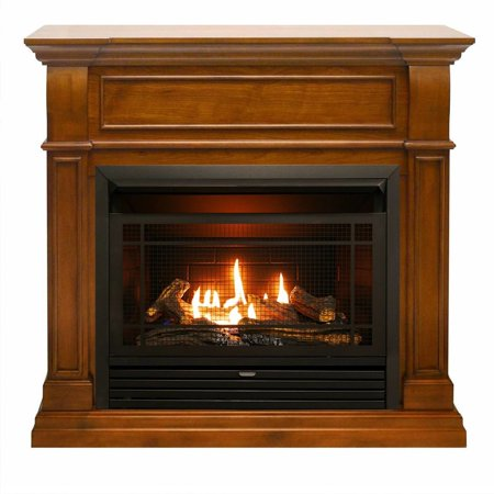 Duluth Forge Dual Fuel Ventless Gas Fireplace - 26,000 BTU, Remote Control, Apple Spice Finish (Remote Control Gas Fireplaces)