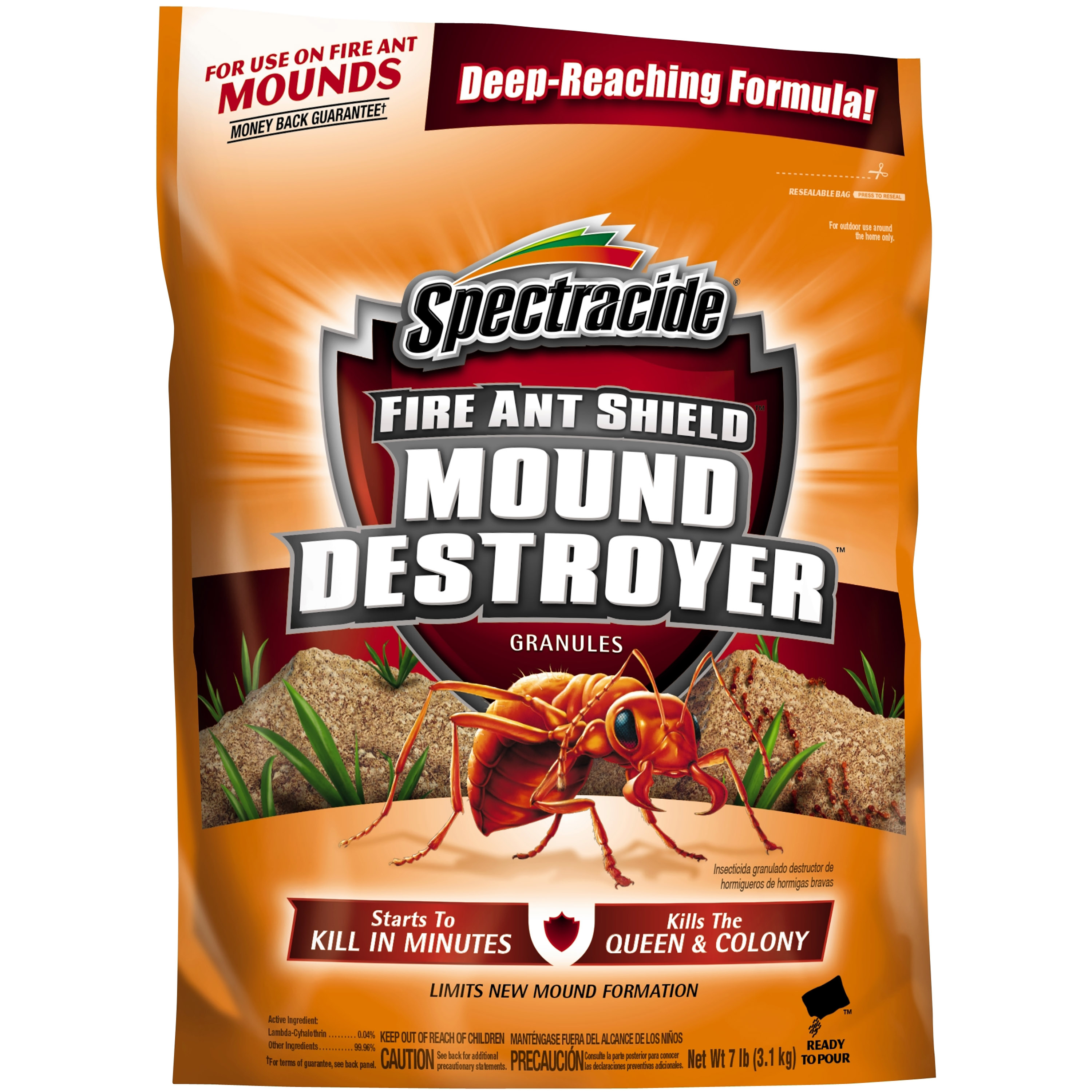 Spectracide Fire Ant Shield Mound Destroyer Granules, 7-lb