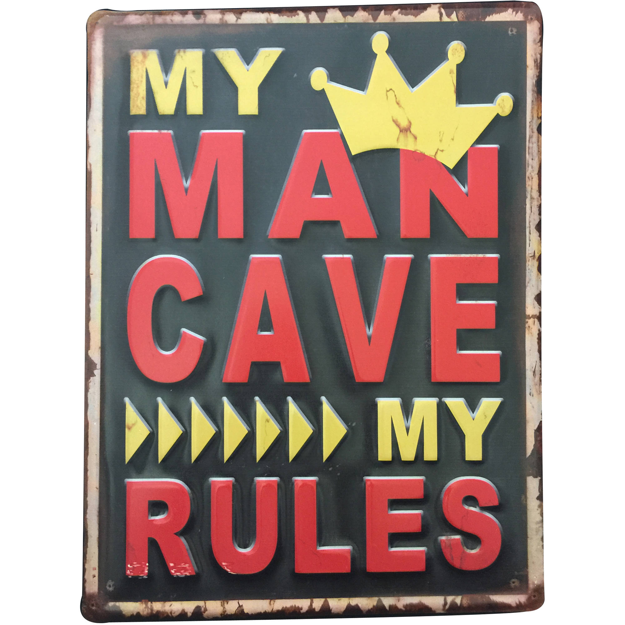 My Man Cave My Rules Metal Wall Art  sc 1 st  Walmart & My Man Cave My Rules Metal Wall Art - Walmart.com