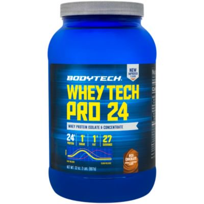 BodyTech Whey Tech Pro 24 Protein Powder  Protein Enzyme Blend with BCAA's to Fuel Muscle Growth  Recovery, Ideal for PostWorkout Muscle Building  Rich Chocolate (2