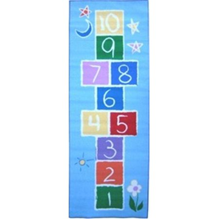 (Fun Time Collection - Primary Hopscotch Rug - 30 x 78 Inch)