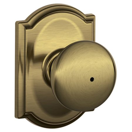 SCHLAGE F40 PLY 609 CAM Knob Lockset,Mechanical,Privacy,Grd. 2