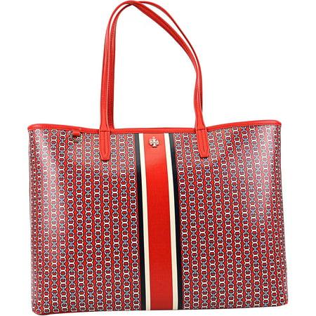 Tory Burch Womens Gemini Link Tote Bag Top Handle   Exotic Red