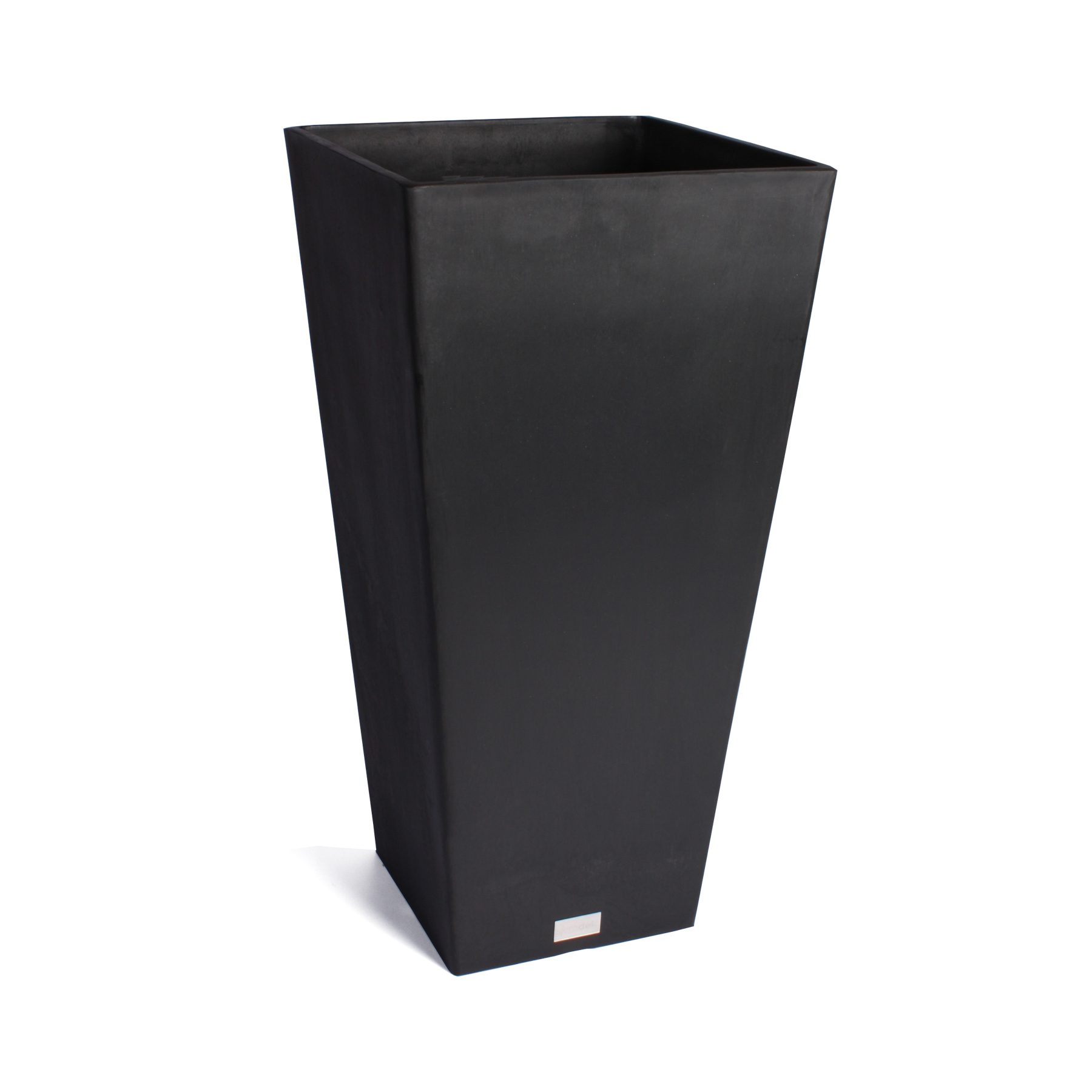 Veradek Midland Tall Square Planter Black 32 in. by Veradek Inc