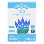 Holiday Time LED Mini Light set, Blue, 100 count
