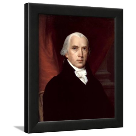 Portrait of James Madison Framed Print Wall Art