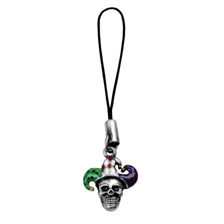 Skull Jester Mobile Strap - Cell Phone Accessory Skeleton Clown](Jester Skull)