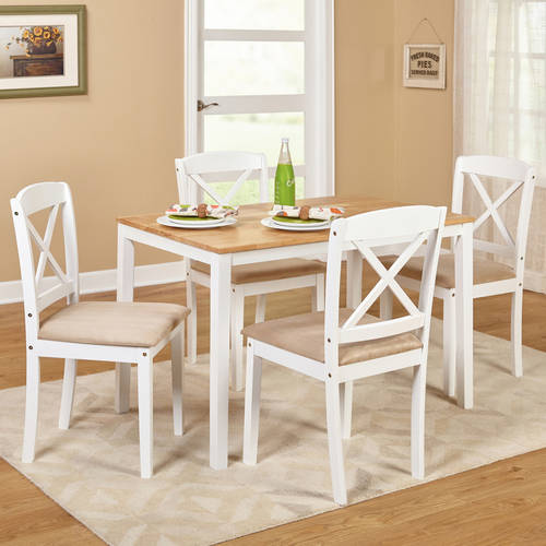 Click here to buy Mason 5 Piece Cross Back Dining Room Set, Multiple Colors by Overstock.