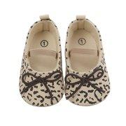 Seyurigaoka Baby Girl's Shoes, Princess Antiskid Toddler's Cotton Bow Matching Elastic Band Boots