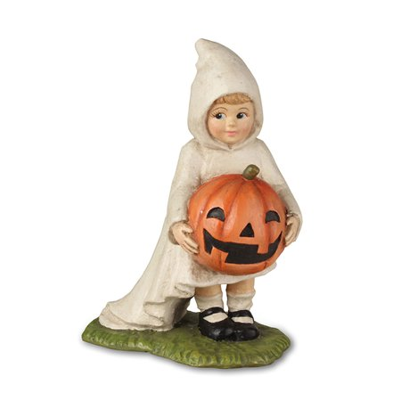 Bethany Lowe TD7628 Halloween Little Ghost Gabby With Pumpkin 2018 - Awesome Halloween Pumpkin Carving Ideas
