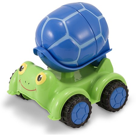 Melissa and Doug Sunny Patch Scootin' Turtle Cement Mixer Vehicle Toy