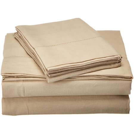 Charisma Luxe Cotton Linen Sheet Set Queen Tan