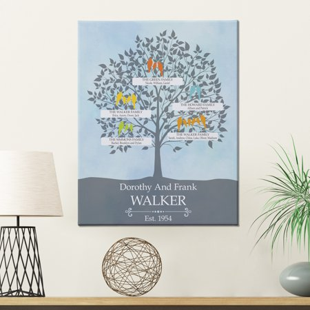 Personalized Loving Family Tree Canvas, 11
