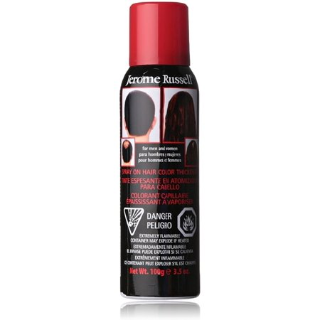 Jerome Russell Spray-On Hair Color Thickener, Dark Brown 3.50 oz (Pack of 3)