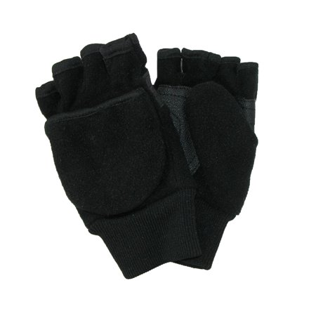 CTM® Kids' 4-7 Fleece Flip Top Fingerless Gloves and Mitten