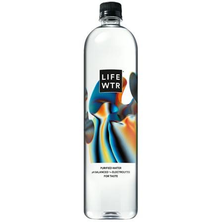 LIFEWTR, Purified Water, pH Balanced with Electrolytes For Taste, 1 Liter Bottle (Packaging May (Gelatin Purified Water)