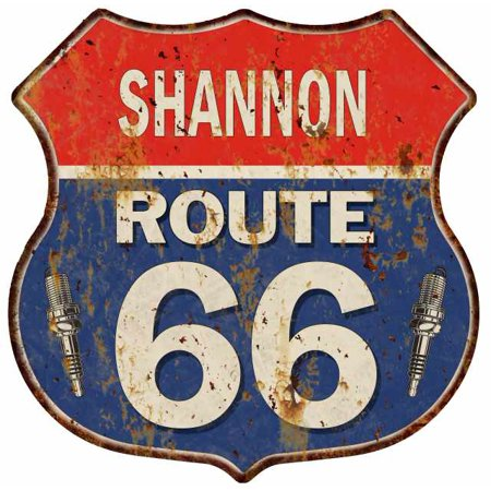 Shannon Metal (SHANNON Route 66 Personalized Shield Metal Sign Man Cave Gift 211110002438 )