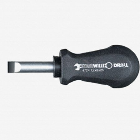 Stahlwille 4724 DRALL 8mm Slotted Stubby Screwdriver