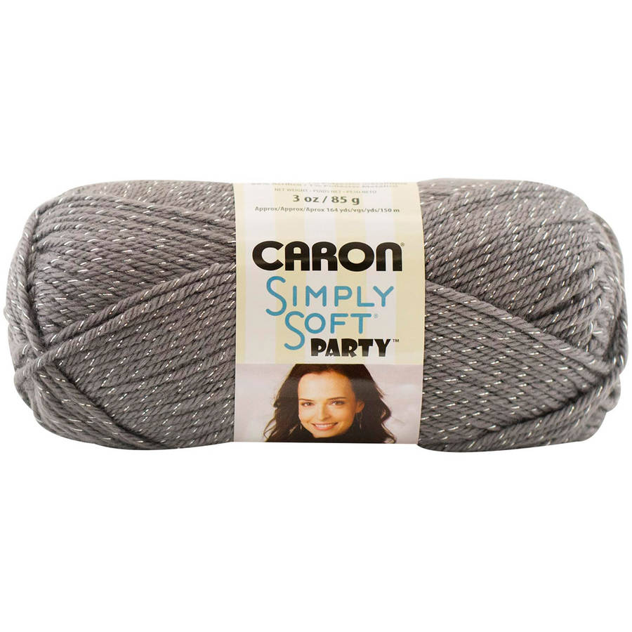 Caron Simply Soft Party Yarn, Royal Sparkle