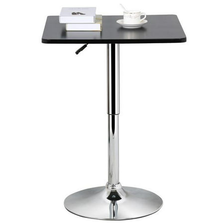 Yaheetech Adjustable Height Pub Bar Table Counter,Round & Square, Black