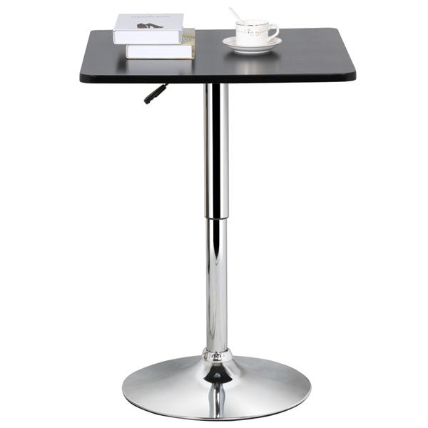 Yaheetech Adjustable Height Pub Bar Table Counter,Round U0026 Square, Black