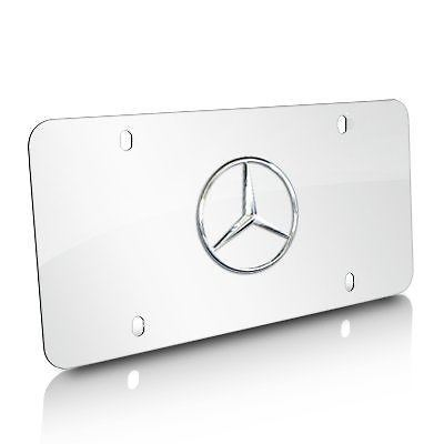 automotive parts and tires walmart walmart Mercedes E350 Sports Sedan product image mercedes benz q6880658 genuine chrome license plate oe