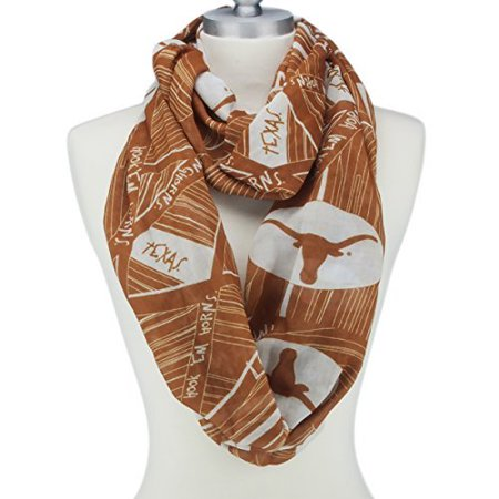 Texas Longhorns Infinity Scarf with Geometric Designs, Logos and Colors