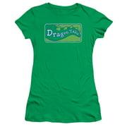 Dragon Tales Logo Clean Juniors Short Sleeve Shirt