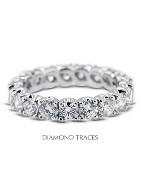 UD-EWB301-0271 18K White Gold 4-Prong Setting, 1.81 Carat Total Natural Diamonds, Classic Eternity Ring