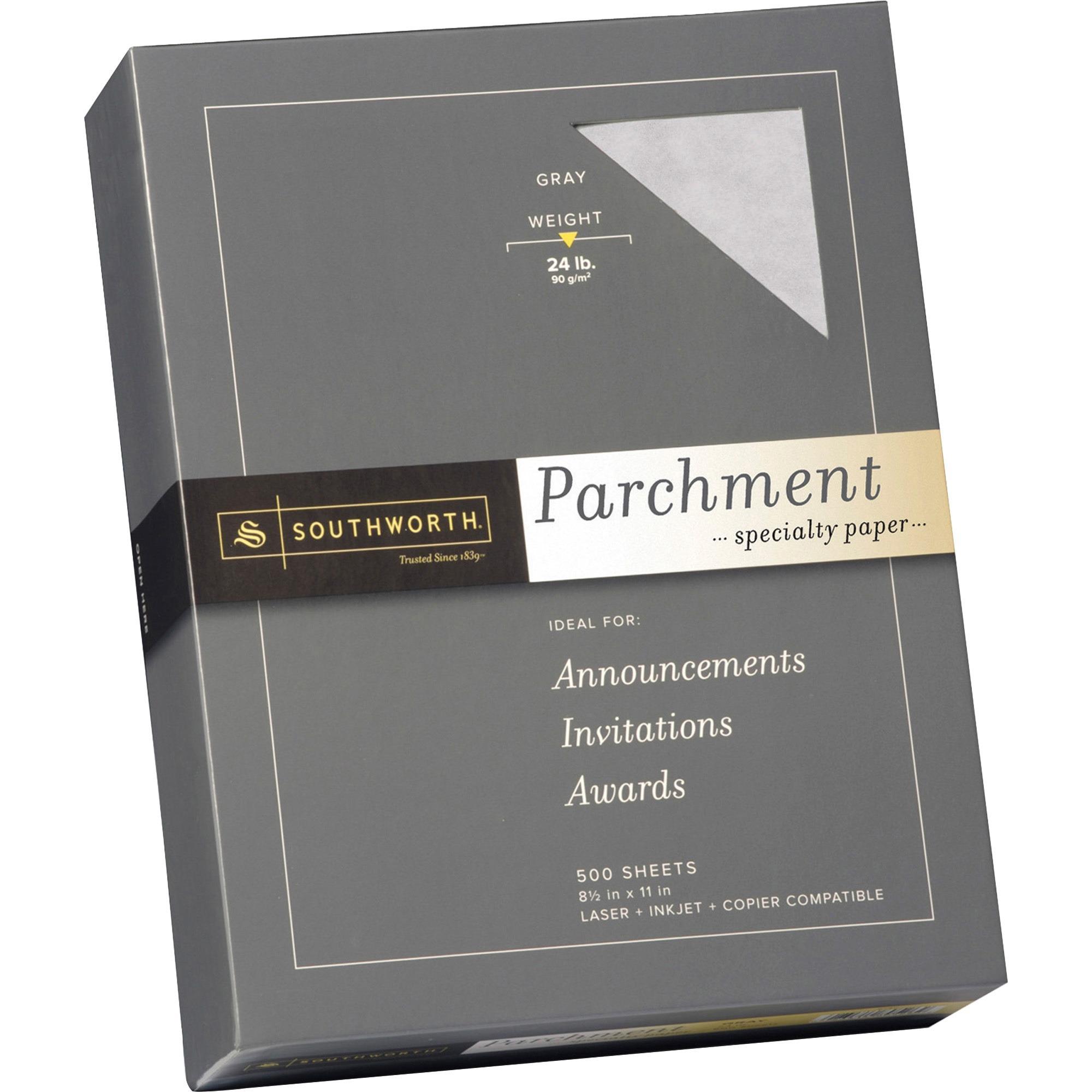 Southworth, SOU984C, Parchment Specialty Paper, 500 / Box, Ivory