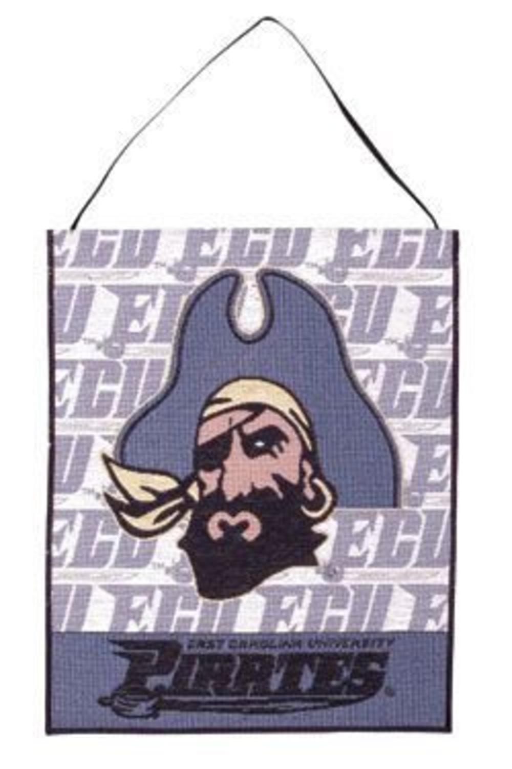 "East Carolina University Pirates Wall Hanging Tapestry 12"" x 18"" by Simply Home"