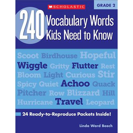 240 Vocabulary Words Kids Need to Know: Grade 2 : 24 Ready-To-Reproduce Packets Inside! (Halloween Vocabulary Words)